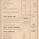 bulletin salaire DEVEAUX Victor 1956