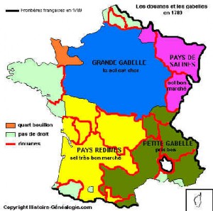 Carte de France des Gabelles