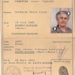Carte identité CHARTIER Germaine