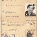 Carte identité CHARTIER Thérèse
