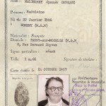 Carte identité MALINGREY Madeleine