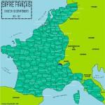 Les 130 départements français sous l'empire