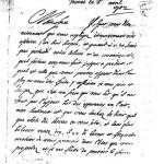Lettre de Nicolas MALINGRE, Vienne 1704