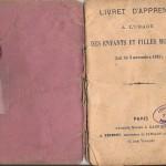 Livret apprenti DEVEAUX Victor 1909