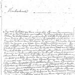 Lettre de Jean MALINGRE, Paris 1715