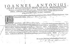 Laisser passer Pierre MALINGRE 1695