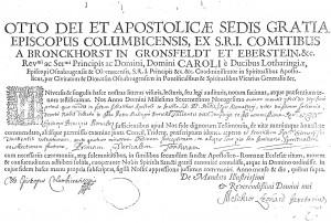 Tonsure et ordinationde Pierre MALINGRE 1698